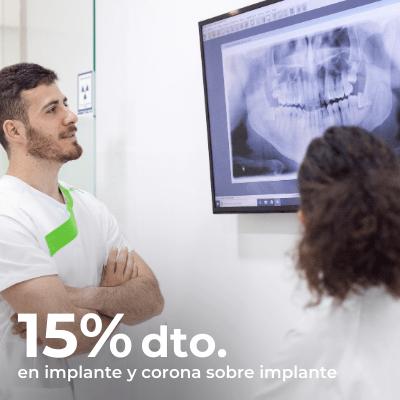 15% de descuento en Implante dental con corona sobre implante en la clínica dental de Villalba
