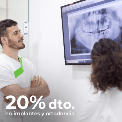 20% de descuento en implantes y ortodoncia en Carabanchel