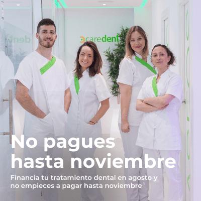 Empieza tu tratamiento dental en agosto y no pagues hasta noviembre de 2020